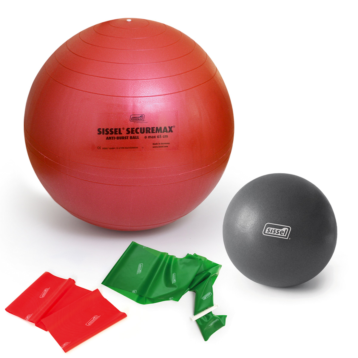 KIT  PILATES CON GIORGIA  3: Soft Ball - FitBall - FitBand